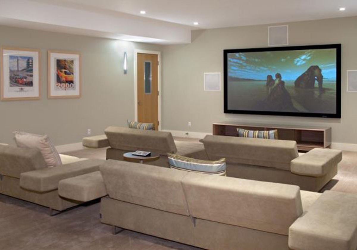Home theater di rumah anda - Seating options for small living room ...