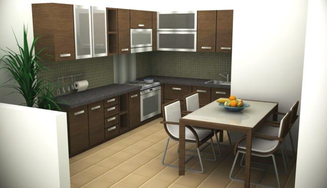Situs Ideaonline Co Menulis Dengan Sangat Mengesankan Tentang Meja Makan Kecil Yang Hadir Di Tengah Ruang Dapur Sempit Gambar Menarik Itu